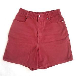 Vintage 80's Denim high waist mom jean shorts